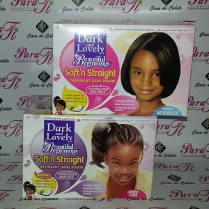 Desfrizante Dark And lovely Beautiful Beginnings Soft´n Straight No-Lye Relaxer