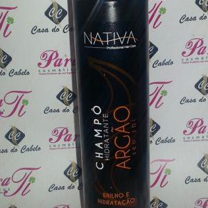 Shampoo s/ Sal Argan 400ml Nativa do Brasil