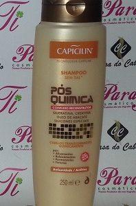 Shampoo Pós-Quimica S/Sal  250ml Capicilin