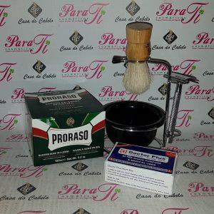 Kit Barba 8 Casa do Cabelo (Suporte Aço+Sabão Barba+Pedra Humus+Pincel+Maquina)