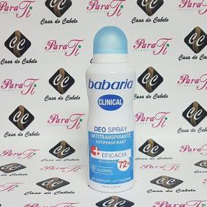 Deo Spray Desodorizante 150ml Babaria Clinical