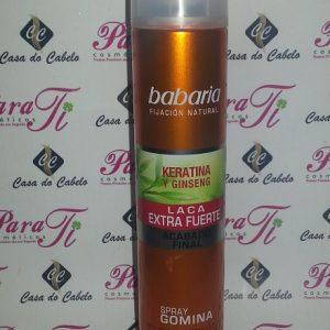 Laca Keratina e Ginseng (Spray Gomida) 300ml Babaria