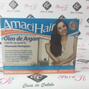 Alisamento Marroquino com Oleo de Argan Amacihair  Embelleze