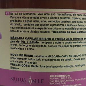 Máscara Brilho e Força 300ml Oma Gestrude ( Belebende Aufbaukur )